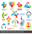 People community 3d icons vector image vector image