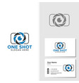 Photography logo template with business card