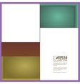 Rectangles and niches vector image vector image