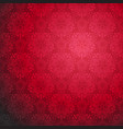 red ornamental seamless pattern vector image vector image