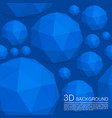 seamless 3d balls polygons vector image