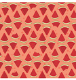 Seamless Pattern Watermelon Triangle Slice Bite vector image vector image