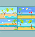 seascape and palms collection vector image vector image