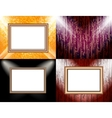 Set of Background with frames and spotlights vector image vector image