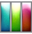 Set of blurry vibrant banners vector image vector image