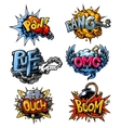 set of comics icons vector image