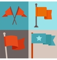 set of flag design elements vector image
