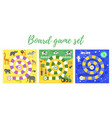 set of kids boardgame vector image