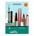 Shanghai vector image vector image