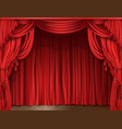 stage curtain realistic vector image