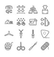 tailor line icon set vector image vector image