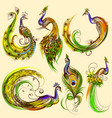 tattoo art design of collection vector image vector image
