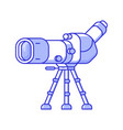 travel spotting scope for birdwatching vector image