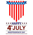 usa independence day happy vector image