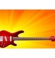vector background with guitar vector image vector image