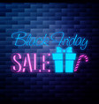 vintage black friday sale emblem vector image