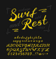 vintage font handwritten alphabet sign painter vector image