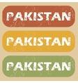 Vintage Pakistan stamp set vector image vector image