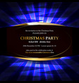 xmas party glowing letters vector image vector image