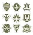 Army Khaki Emblems vector image