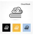 Cloud and book logo design vector image