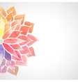 rainbow watercolor painted flower on white vector image
