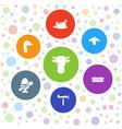 7 farm icons vector image vector image