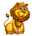 A young lion vector image vector image