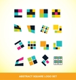 Abstract square logo icon set vector image vector image