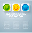 abstract web infographic template vector image vector image