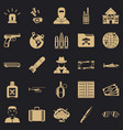 antiterror icons set simple style vector image vector image