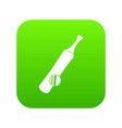 baseball icon digital green vector image