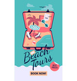 Beach Tours Promotional Poster vector image vector image