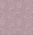 beautiful seamless floral background with vector image vector image