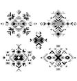 black and white tribal design elements vector image vector image