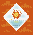 bright sun vector image vector image