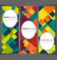 business banner with colorful squares business vector image