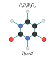 C4H4N2O2 uracil molecule vector image vector image