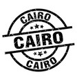 cairo black round grunge stamp vector image vector image