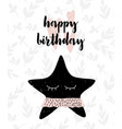 card with calligraphy lettering happy birthday and vector image vector image