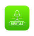 chair home icon green vector image