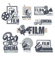 cinema and movies set monochrome banners vector image vector image