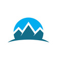 circle mountain expedition logo image vector image vector image