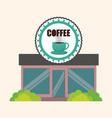 coffee shop marketing building vector image vector image