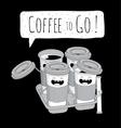 Coffee to Go set vector image