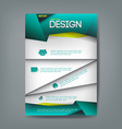 Cover report design template origami modern style vector image