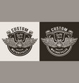 custom motorcycle emblem vector image vector image