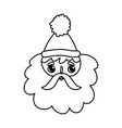 cute santa claus face character happy christmas vector image