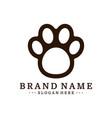 dog foot logo design template dog icon logo vector image