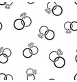 engagement ring with diamond icon seamless vector image vector image